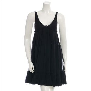 NWT Fendi Black Silk Dress - US 2 IT 38